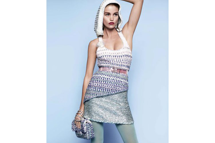 Asymmetrical knitwear and glistening beads 2